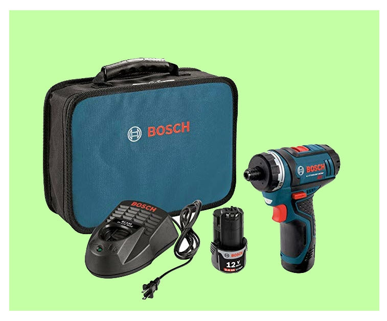 Bosch 2 speed pocket driver kit with case from www.ladiestoolkit.com