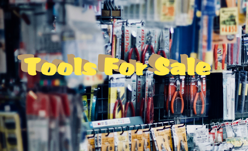 Graphic of various tools on sale in a tool store. From www.www.ladiestoolkit.com