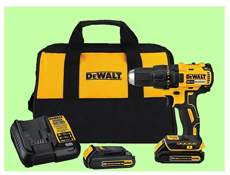 Brushless drill driver and tool bag from www.ladiestoolkit.com
