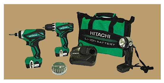Hitachi combi set 12 volt battery from www.ladiestoolkit.com