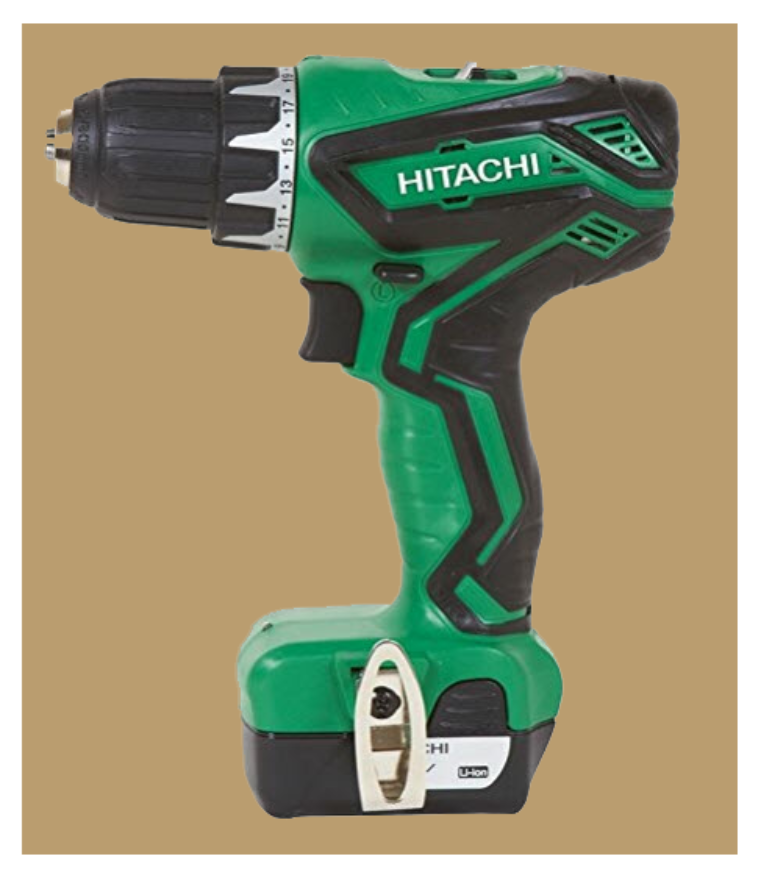 Hitachi 12 volt power drill from www.ladiestoolkit.com