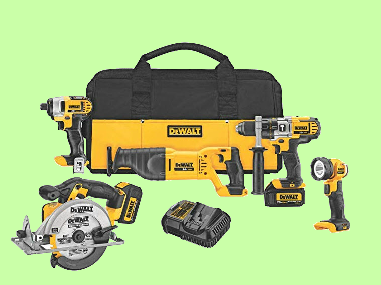 DeWalt 5 tool Combo Kit with tool bag