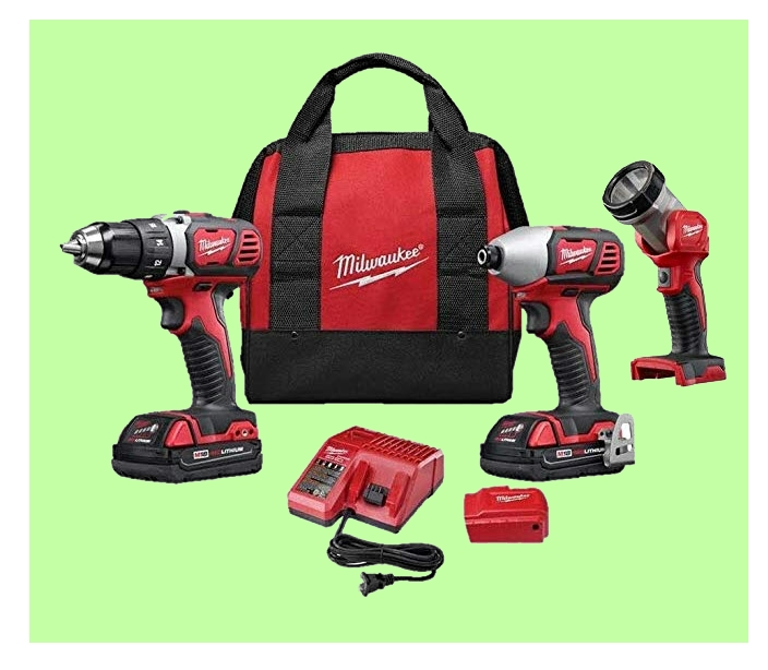 Milwaukee power tool combo kit www.ladiestoolkit.com